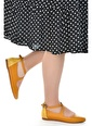 Ayakland Ayakland 1920-203 Cilt Sandalet Bayan Babet Ayakkabı Hardal